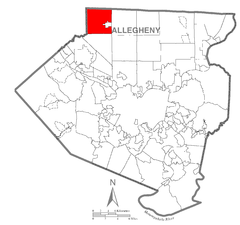 Map of Marshall Township, Allegheny County, Pennsylvania Highlighted.png