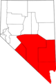 Map of Nevada highlighting Southern Nevada.png