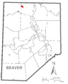 Map of New Galilee, Beaver County, Pennsylvania Highlighted.png