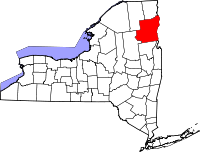 Map of New York highlighting Essex County.svg