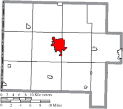 Location of Van Wert in Van Wert County