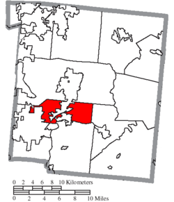 Location of Union Township in Warren County