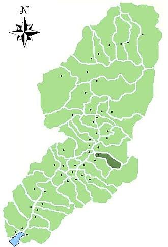Braone - Image: Map of comune of Braone in Val Camonica (LG)