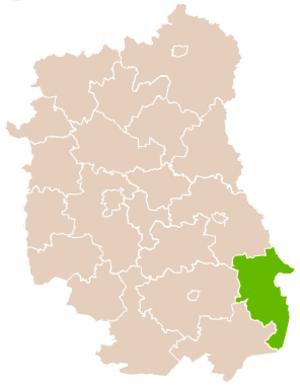 Hrubieszów County - Image: Mapa Pow Hrubieszowski