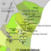 Municipalities of Horta Nord
