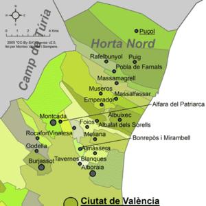 Horta Nord - Municipalities of Horta Nord