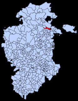 Municipa loko de Partido de La Sierra en Tobalina en Burgosa provinco