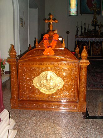 History of Kollam - Tomb of Mar Sabor at Marth Mariam church, Thevalakkara in Quilon