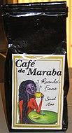 A packet of Maraba Coffee as sold in Rwanda