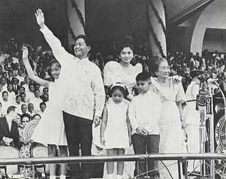 Imelda Marcos - Imelda Romualdez-Marcos with former President Ferdinand Marcos and family during the 1965 inauguration