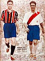 Marcos Díaz (Chacarita) y Carlos Peucelle (River) - El Gráfico 716.jpg
