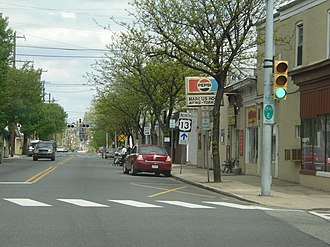 U.S. Route 13 in Pennsylvania - US 13 northbound in Marcus Hook