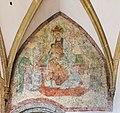 Maria Saal Wallfahrtskirche Mariä Himmelfahrt Vorhalle Fresko thronende Madonna 18102015 8204.jpg
