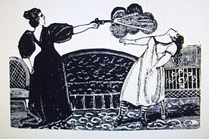 Belem Prison - Maria Villa depicted shooting her rival for a lover, which she was sentenced twenty years in Belen Prison