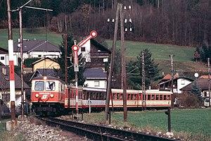 Narrow-gauge railways in Europe - At the semaphore signal near Rabenstein an der Pielach