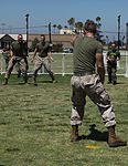 Marine volunteers from the Single Marine Program compete with each other.jpg