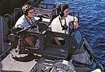 Mark 56 gun fire control director aboard USS Coral Sea (CVA-43), in 1973.jpg
