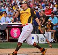 Mark Trumbo competes in semifinals of '16 T-Mobile -HRDerby. (28285837920).jpg