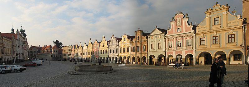 Файл:Market Square in Telč 2.jpg