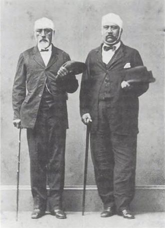 Honolulu Courthouse riot - Representatives William Thomas Martin and William Luther Moehonua, survivors of the attack on the legislative assembly.