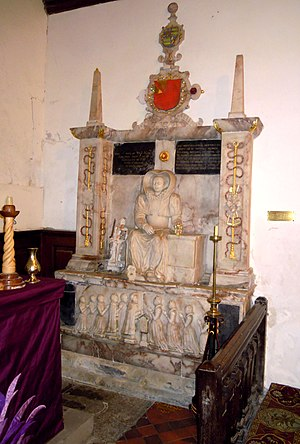 Church of All Saints, Radwell - Tomb of Mary Plomer (1605)