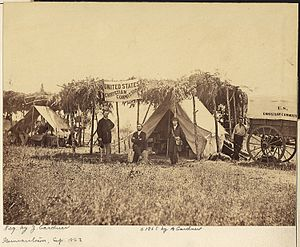 Germantown, Maryland - A field headquarters of the U.S. Christian Commission at Germantown in September 1863.