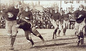 Maryland Terrapins football, 1892–1946 - Maryland playing Johns Hopkins in 1919 during Curley Byrd's coaching tenure.