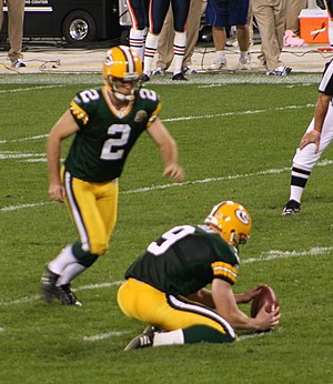 Mason Crosby - Crosby playing in 2007.