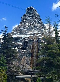 Matterhorn Bobsleds Roller coaster at Disneyland in Anaheim, California, United States.