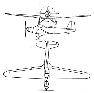 Mauboussin M.120 - Mauboussin 123 3-view drawing from  L'Aerophile February 1938