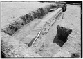 May 1958 DRAIN FROM NORTHEAST - Fort Frederica, Barracks (Ruins), Saint Simons Island, Glynn County, GA HABS GA,64-FRED,1-11.tif