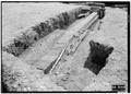 May 1958 DRAIN FROM NORTHEAST - Fort Frederica, Barracks (Ruins), Saint Simons Island, Glynn County, GA HABS GA,64-FRED,1-11.tif