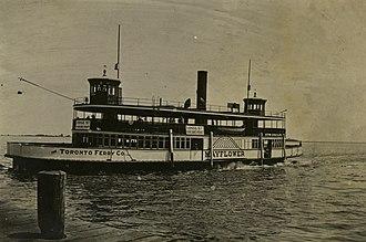Toronto Ferry Company - Image: Mayflower ferry 1890s toronto