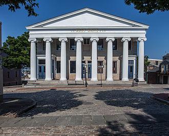 Russell Warren (architect) - Image: Mechanics' Bank and Merchants' Bank Building, New Bedford