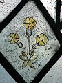 Medieval glass, Cowfold parish church.jpg
