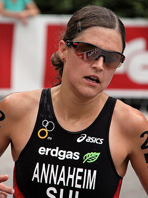 Melanie Hauss - Melanie Annaheim placing 20th at the World Championship Series triathlon in Kitzbühel, 2010.