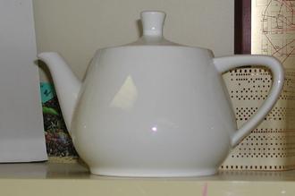 Utah teapot - The actual Melitta teapot that Martin Newell modelled, residing at The Computer Museum, Boston (1984–1990)