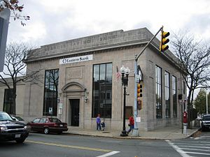 The Town (2010 film) - The exterior of a former MassBank branch in Melrose, Massachusetts, was used for the main robbery of the film.