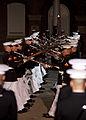 Members of the U.S. Marine Corps Silent Drill Platoon perform during an Evening Parade at Marine Barracks Washington in Washington, D.C., June 27, 2014 140627-M-KS211-219.jpg
