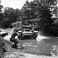 Men of the Army Film and Photographic Unit training with a Valentine tank at Pinewood Studios, Buckinghamshire, June 1943. H31007.jpg
