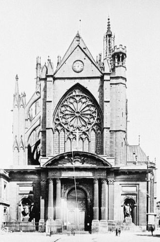 Jacques-François Blondel - West portal of the cathedral in Metz, designed by Blondel in 1764, replaced in 1887
