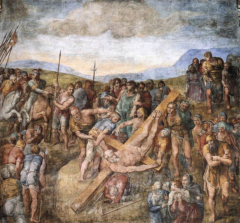 Michelangelo, paolina, martirio di san pietro 01.jpg