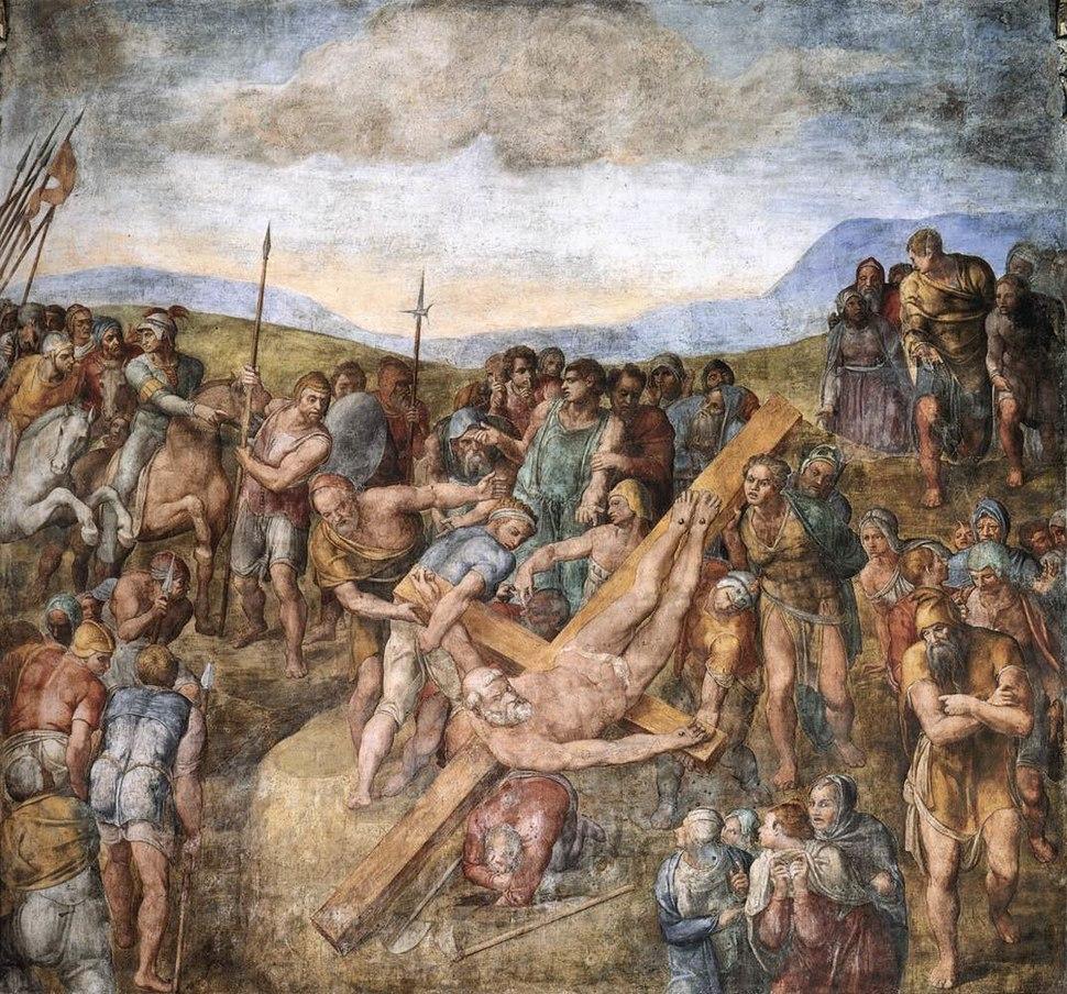Michelangelo, paolina, martirio di san pietro 01