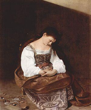 Penitent Magdalene (Caravaggio) - Image: Michelangelo Caravaggio 063