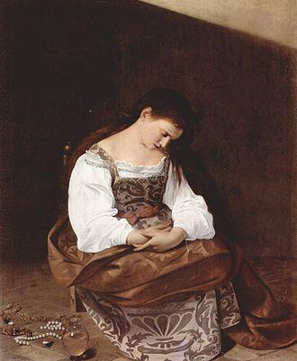Martha and Mary Magdalene (Caravaggio) - Image: Michelangelo Caravaggio 063