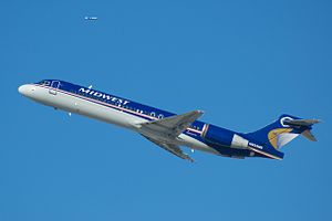 Midwest Airlines - A Boeing 717 in the airline's final livery.