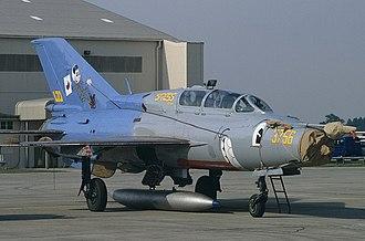 Czech Air Force - A Czech MiG-21UB in a special paint
