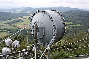 Microwave antenna - A typical larger microwave antenna designed for mid to long range
