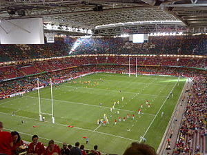 2002 New Zealand rugby league tour of Great Britain and France - Image: Millennium Stadium inside