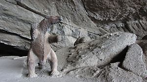Cueva del Milodón Natural Monument - Replica of a Mylodon inside the cave